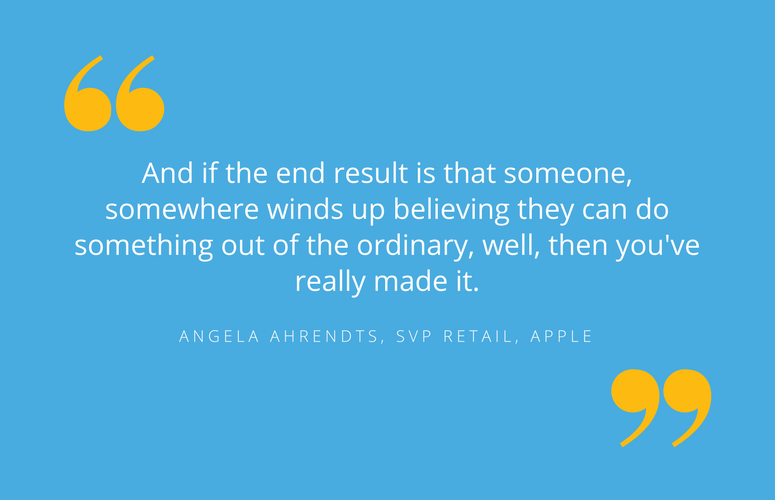 Motivational quote by successful business woman: Angela Ahrendts